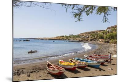 Fishing Boats on Beach, Cidade Velha, Santiago Island, Cape Verde-Peter Adams-Mounted Photographic Print