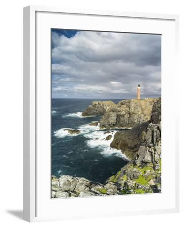 Isle of Lewis, Coast and Lighthouse at the Butt of Lewis. Scotland-Martin Zwick-Framed Photographic Print