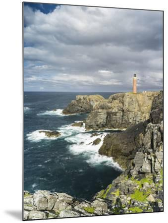 Isle of Lewis, Coast and Lighthouse at the Butt of Lewis. Scotland-Martin Zwick-Mounted Photographic Print