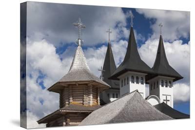 Romania, Maramures Region, Rodna Mountains NP, Orthodox Monastery-Walter Bibikow-Stretched Canvas Print