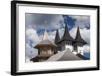 Romania, Maramures Region, Rodna Mountains NP, Orthodox Monastery-Walter Bibikow-Framed Photographic Print
