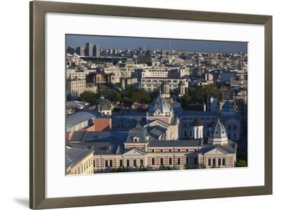 Romania, Bucharest, Coltea Hospital Along IC Bratianu Blvd at Sunset-Walter Bibikow-Framed Photographic Print