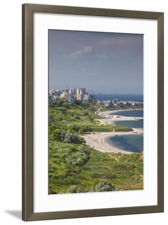 Romania, Black Sea Coast, Constanta, Modern Beach, Beachfront Building-Walter Bibikow-Framed Photographic Print