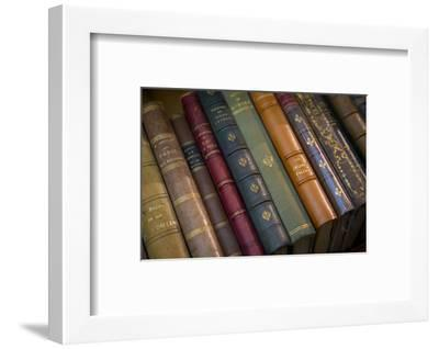 Old French Books at a Bookstore in Galerie Vivienne, Paris, France-Brian Jannsen-Framed Photographic Print