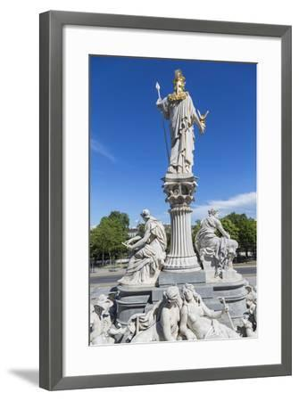 Statues in Front of Parliament Building, Vienna, Austria-Peter Adams-Framed Photographic Print