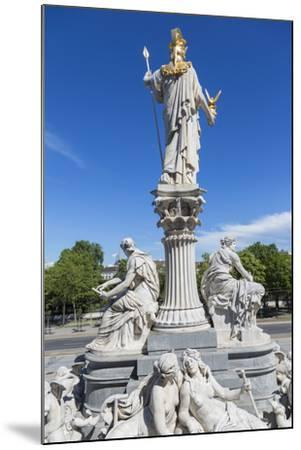 Statues in Front of Parliament Building, Vienna, Austria-Peter Adams-Mounted Photographic Print