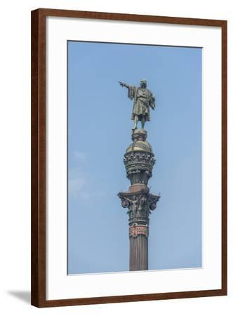 Spain, Barcelona, Christopher Columbus Monument-Jim Engelbrecht-Framed Photographic Print