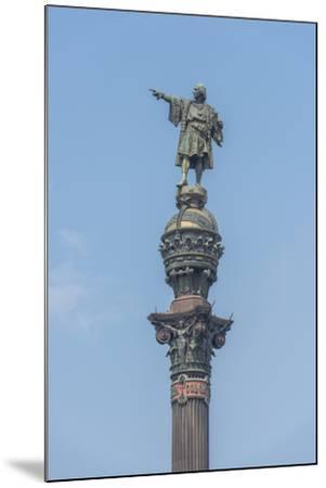 Spain, Barcelona, Christopher Columbus Monument-Jim Engelbrecht-Mounted Photographic Print
