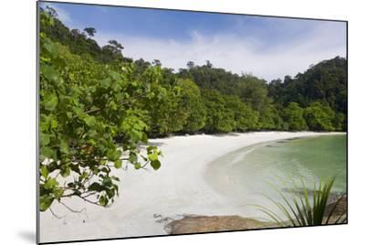 Emerald Bay, Beach and Palm Trees, Palau Pangkor Laut, Malaysia-Peter Adams-Mounted Photographic Print