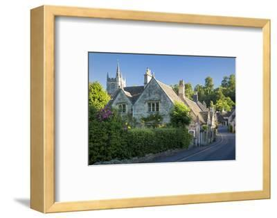 Early Morning in Castle Combe, the Cotswolds, Wiltshire, England-Brian Jannsen-Framed Photographic Print