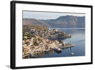Symi Town, Symi Island, Dodecanese Islands, Greece-Peter Adams-Framed Photographic Print