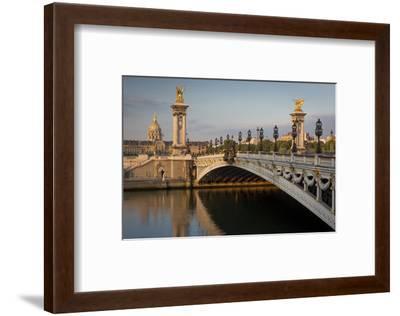 River Seine, Pont Alexandre III and Hotel les Invalides, Paris, France-Brian Jannsen-Framed Photographic Print