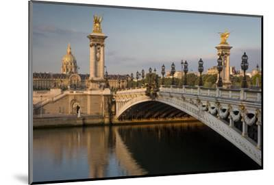 River Seine, Pont Alexandre III and Hotel les Invalides, Paris, France-Brian Jannsen-Mounted Photographic Print