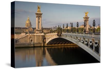 River Seine, Pont Alexandre III and Hotel les Invalides, Paris, France-Brian Jannsen-Stretched Canvas Print