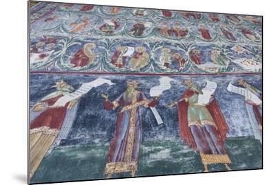 Romania, Sucevita, Sucevita Monastery, Exterior Religious Frescoes-Walter Bibikow-Mounted Photographic Print