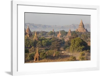 View of the Pagodas and Temples of the Ancient City of Bagan, Myanmar-Peter Adams-Framed Photographic Print