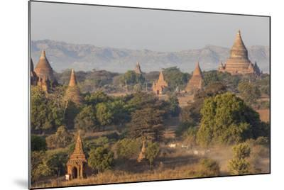 View of the Pagodas and Temples of the Ancient City of Bagan, Myanmar-Peter Adams-Mounted Photographic Print