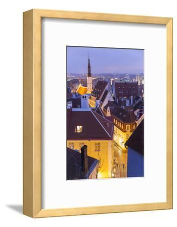 View of Old Town at Dusk, from Toompea, Tallinn, Estonia-Peter Adams-Framed Photographic Print