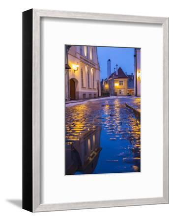 Reflections, Old Town, Tallinn, Estonia-Peter Adams-Framed Photographic Print