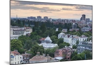 Bulgaria, Southern Mountains, Plovdiv, View from Nebet Tepe Hill, Dusk-Walter Bibikow-Mounted Photographic Print