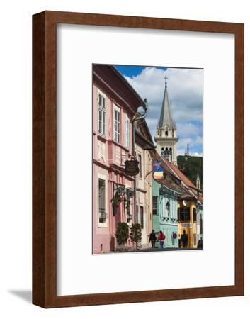 Romania, Transylvania, Sighisoara, Piata Cetatii, Old Town Buildings-Walter Bibikow-Framed Photographic Print