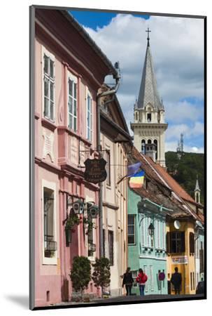 Romania, Transylvania, Sighisoara, Piata Cetatii, Old Town Buildings-Walter Bibikow-Mounted Photographic Print