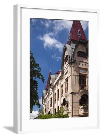 Romania, Transylvania, Buildings Along Piata Trandafirilor Square-Walter Bibikow-Framed Photographic Print