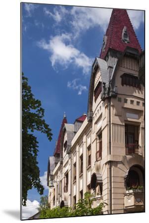 Romania, Transylvania, Buildings Along Piata Trandafirilor Square-Walter Bibikow-Mounted Photographic Print