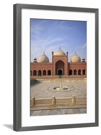 View of Badshahi Masjid, One of the Biggest Mosques in the World-Yasir Nisar-Framed Photographic Print