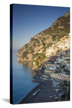 Morning on the Mountains Above Positano, Amalfi Coast, Campania, Italy-Brian Jannsen-Stretched Canvas Print