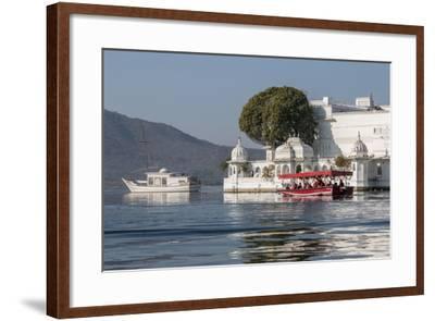 Palace Hotel. Jag Niwas. Lake Pichola. Udaipur Rajasthan. India-Tom Norring-Framed Photographic Print