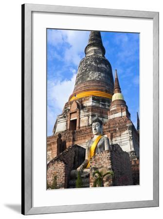 Wat Yai Chai Mongkol, Ayutthaya, Thailand-Peter Adams-Framed Photographic Print