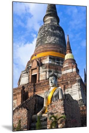Wat Yai Chai Mongkol, Ayutthaya, Thailand-Peter Adams-Mounted Photographic Print