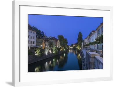 Slovenia, Ljubljana, Ljubljana River at Dawn-Rob Tilley-Framed Photographic Print
