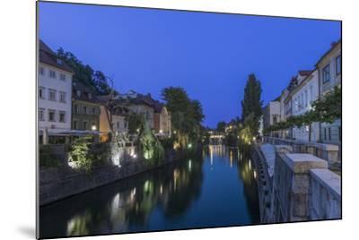 Slovenia, Ljubljana, Ljubljana River at Dawn-Rob Tilley-Mounted Photographic Print