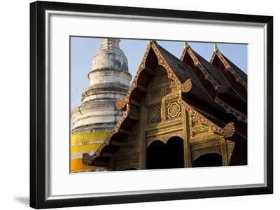 Wat Phra Singh, Chiang Mai, Thailand, South East Asia-Peter Adams-Framed Photographic Print