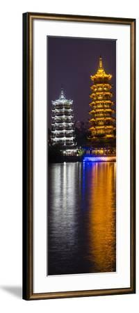 Gold and Silver Pagoda Evening Light, Guilin, China-Darrell Gulin-Framed Photographic Print