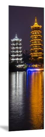 Gold and Silver Pagoda Evening Light, Guilin, China-Darrell Gulin-Mounted Photographic Print