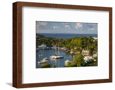 Sunset over the Tiny Harbor in Castries, St. Lucia, West Indies-Brian Jannsen-Framed Photographic Print