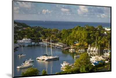 Sunset over the Tiny Harbor in Castries, St. Lucia, West Indies-Brian Jannsen-Mounted Photographic Print