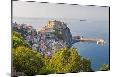 Town View with Castello Ruffo, Scilla, Calabria, Italy-Peter Adams-Mounted Photographic Print