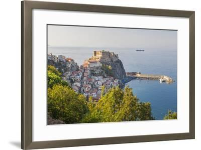 Town View with Castello Ruffo, Scilla, Calabria, Italy-Peter Adams-Framed Photographic Print