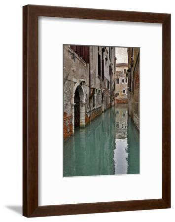 Canal and Doorways Venice, Italy-Darrell Gulin-Framed Premium Photographic Print