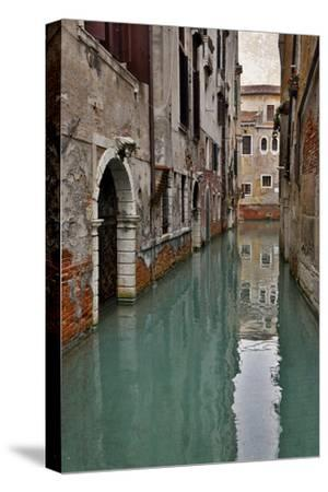 Canal and Doorways Venice, Italy-Darrell Gulin-Stretched Canvas Print