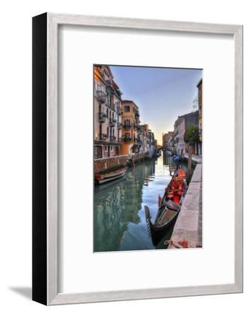 Gondolas Along the Canals of Venice, Italy-Darrell Gulin-Framed Photographic Print