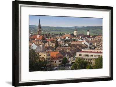 Romania, Transylvania, Sibiu, Elevated City View, Late Afternoon-Walter Bibikow-Framed Photographic Print