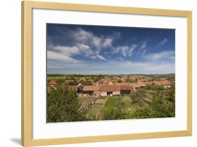Romania, Transylvania, Sercaia, Elevated Village View-Walter Bibikow-Framed Photographic Print