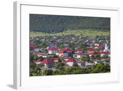 Romania, Danube River Delta, Babadag, Elevated Town View-Walter Bibikow-Framed Photographic Print