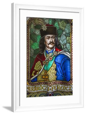 Romania, Transylvania, Culture Palace Building, Stained Glass Windows-Walter Bibikow-Framed Photographic Print