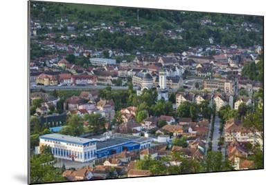 Romania, Transylvania, Sighisoara, Elevated Town View, Dawn-Walter Bibikow-Mounted Photographic Print